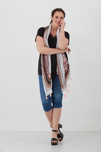 Sjaal met etnische print