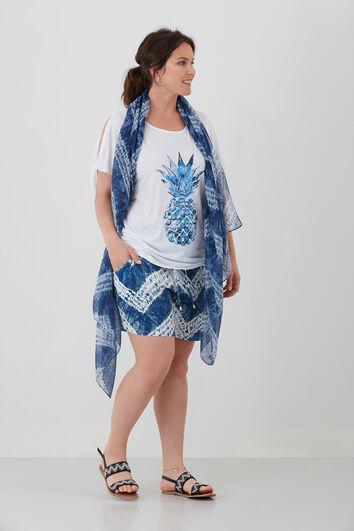 Sjaal met tie-dye print