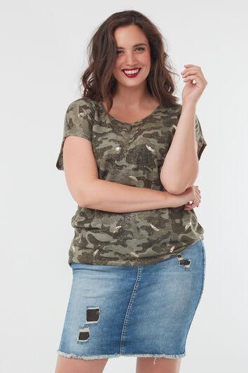 Shirt met camouflageprint