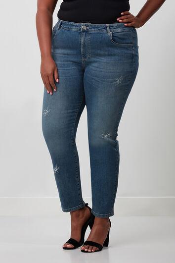 Jeans met strass detail