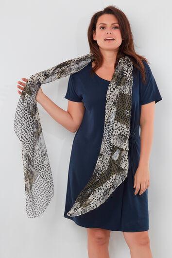 Sjaal met kattenprint