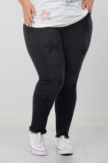 Slim leg jeans met sterren