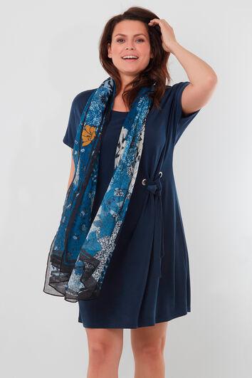 Sjaal met natuurprint
