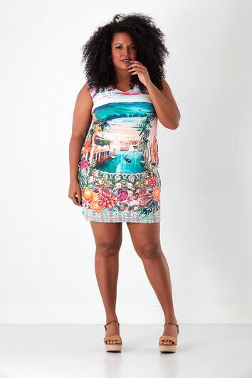 Bodycon jurk met print