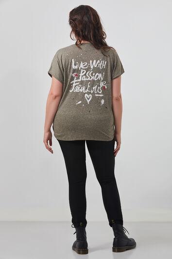 T-shirt met print op de rug