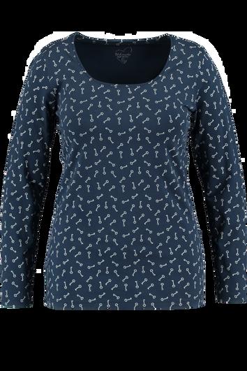 Basis T-shirt met allover print