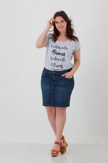 T-shirt met strepen en tekst