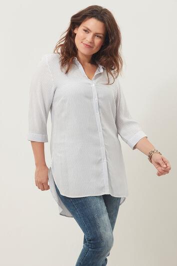 Lange blouse met streepdessin