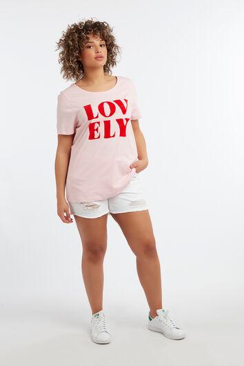 T-shirt à imprimé floqué