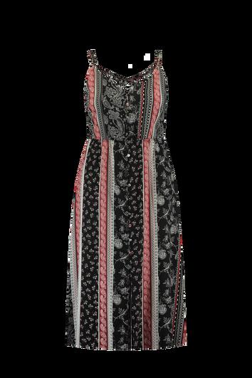 Lange doorknoop jurk