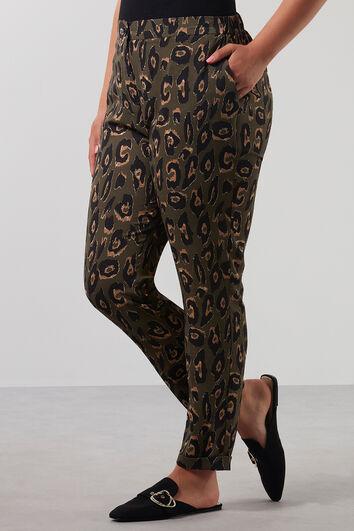 Pantalon imprimé léopard