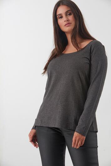 Basis T-shirt met ronde hals