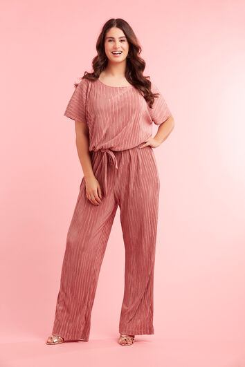 Jumpsuit in plissé