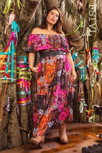 Kleurrijke maxi jurk