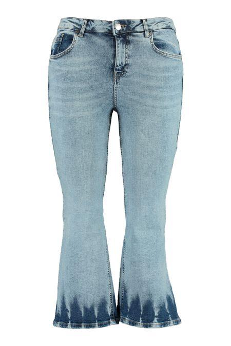 Cropped jeans met tie dye effect