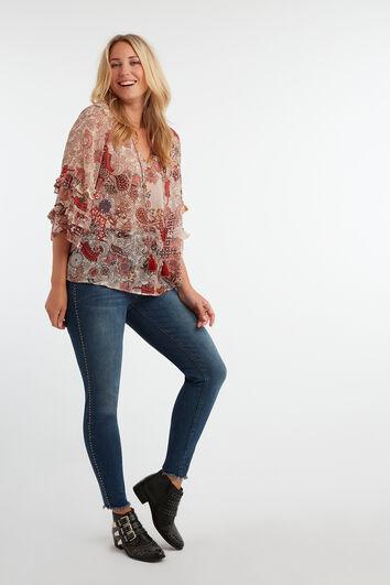 Skinny leg jeans met studs