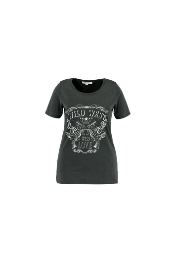 T-shirt met trendy print