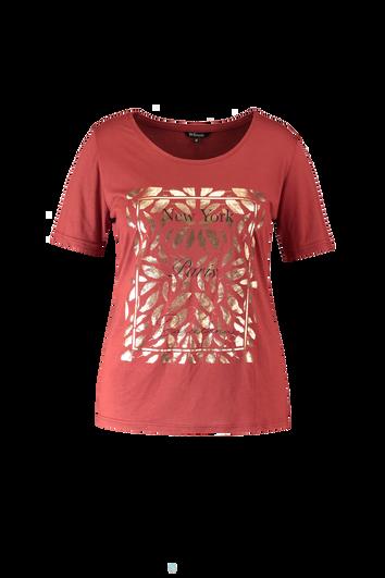 T-shirt avec imprimé métallisé