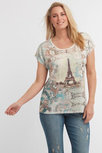 T-shirt à empiècement imprimé
