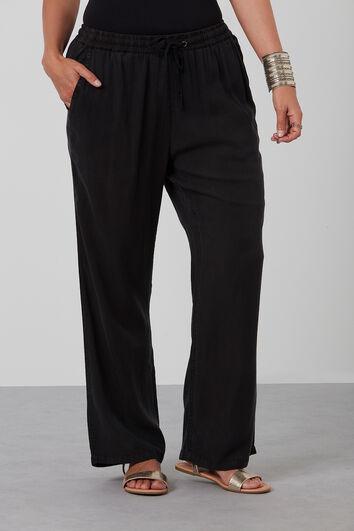 Pantalon coupe ample en Tencel