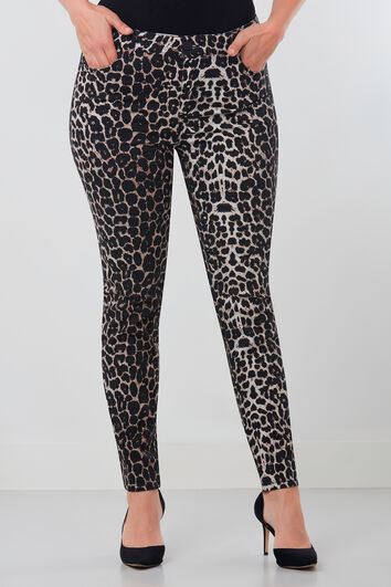 Broek met luipaardprint