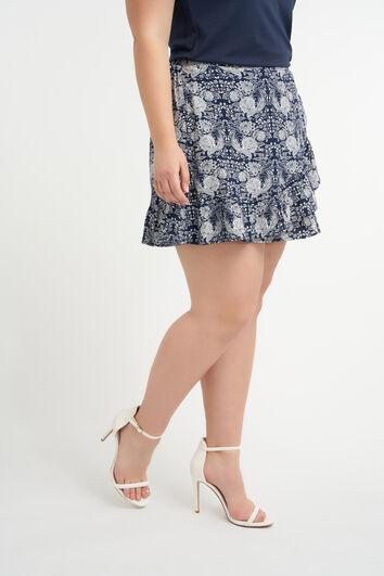 Jupe-short à imprimé floral