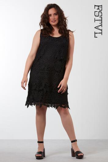 Effen jurk van crochet
