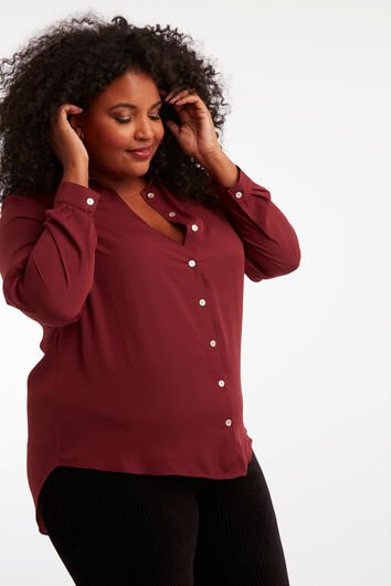 Lookbook Wine Blouse