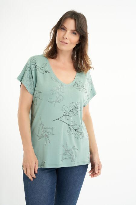 T-shirt met botanische print