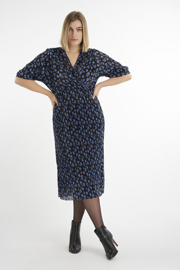 Lange jurk van plissé