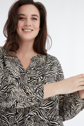 Tuniekblouse met zebraprint
