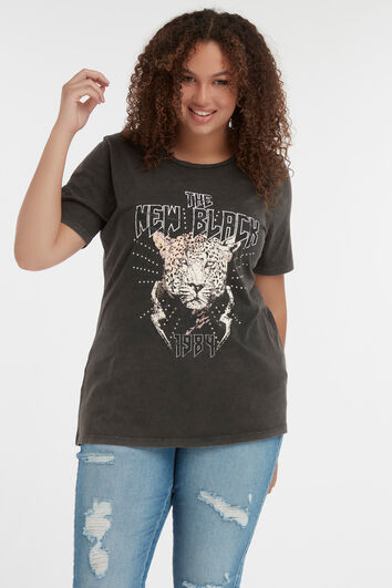 T-shirt met fashion opdruk