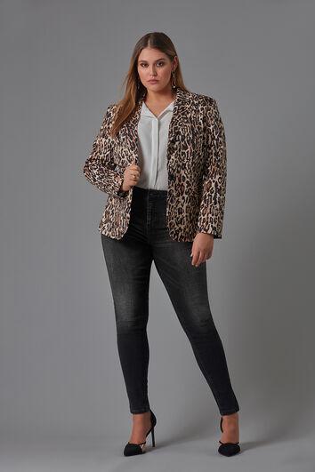 Blazer met luipaardprint