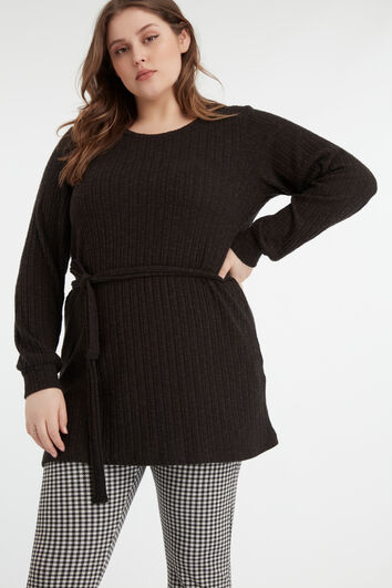 Pull-over long et fin
