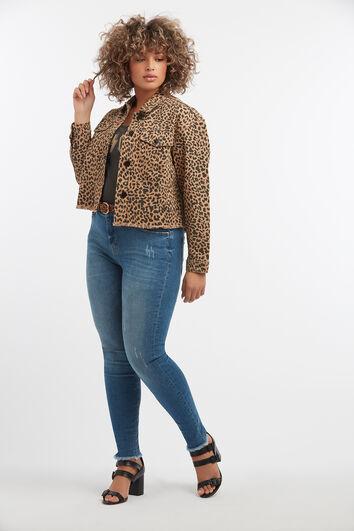 Kort jasje met luipaardprint