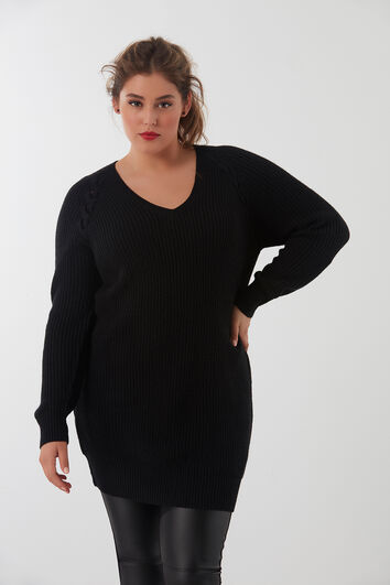 Pull-over lacé