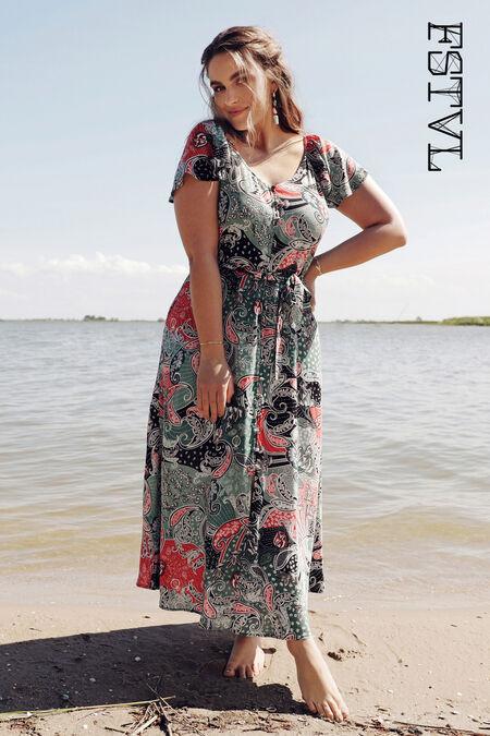 Lange jurk met paisleyprint