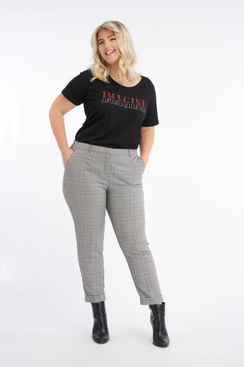 Cropped pantalon met ruit