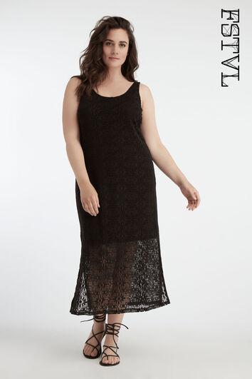Lange crochet jurk