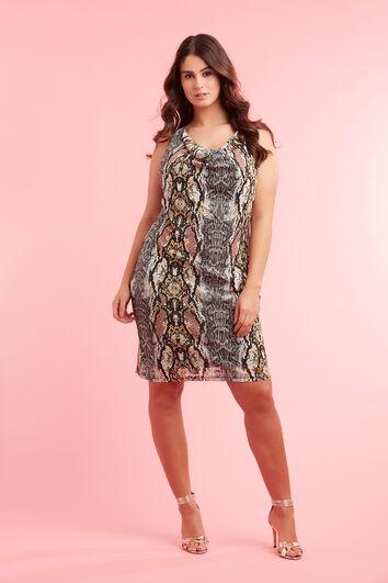 Bodycon jurk met snakeprint