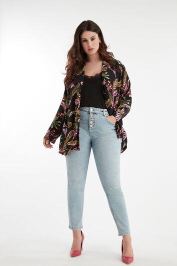 Jeans met knopen