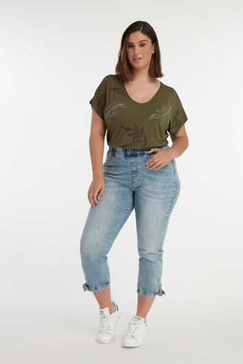 Cropped tregging POPPY met strik detail