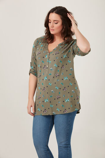 Top met all-over print