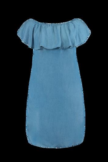Off-shoulder jurk van tencel