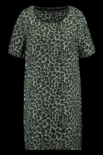 Robe à imprimé léopard et rayure sport