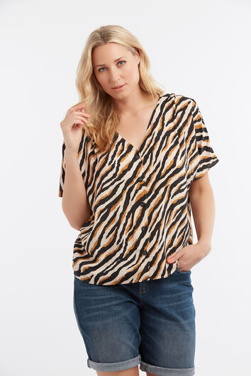Lookbook Sale Zebra Blouse