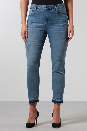 Jeans super skinny avec détails usés