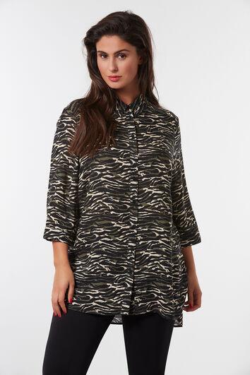 Lange blouse met print