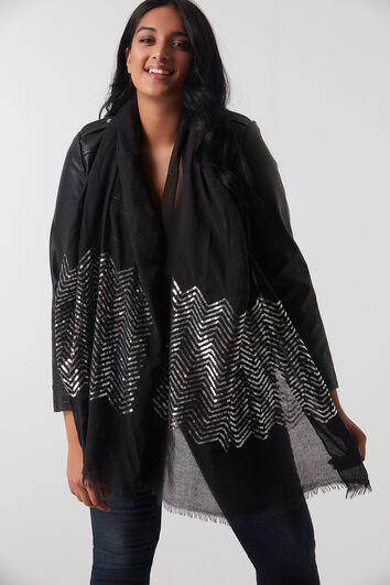 Sjaal met pailletten