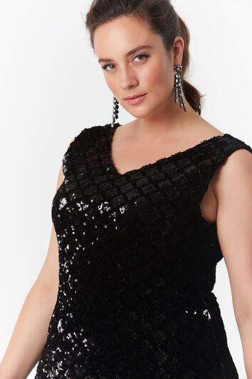 Bodycon jurk met pailletten